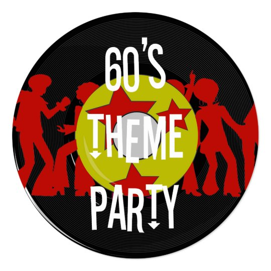 Retro 60 s Theme Party Invitations. Retro 60 s Theme Party Invitations   Zazzle com
