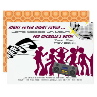RETRO 60th Birthday Invite Boogie Night Fever