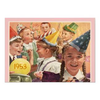 Retro 60th Birthday Party 1953 Memories Pink Personalized Invites
