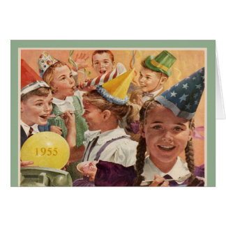 Retro 60th Birthday Party 1955 Childhood Memories Greeting Cards