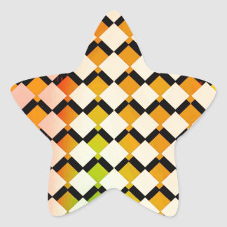 Retro 70s Abstract Art Star Stickers
