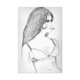 Retro 70s Bikini Girl Canvas Print