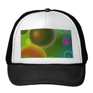 retro 70s bubbles green hats