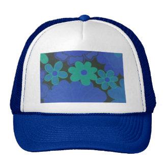 Retro 70's Dark Flower's Hat