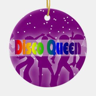 Retro 70s Decade | Rainbow Disco Queen Dancers Ceramic Ornament