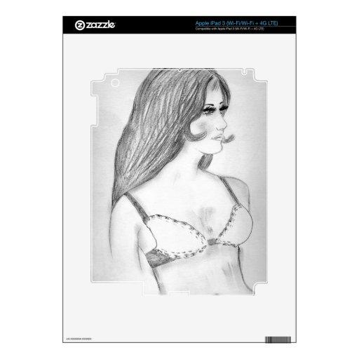 Retro 70's Fashion Model Bikini Girl iPad 3 Skin
