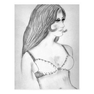 Retro 70's Fashion Model Bikini Girl Postcard