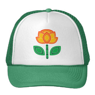 Retro 70s Flower Caps Trucker Hat