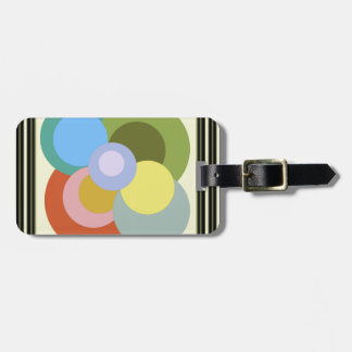 Retro 70s Groovy Dots Abstract Bag Tag