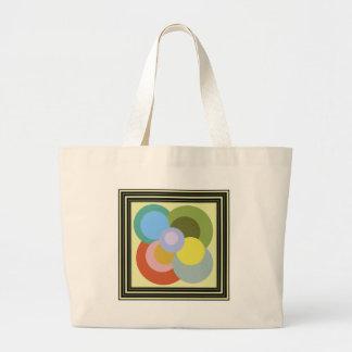 Retro 70s Groovy Dots Pattern Jumbo Tote Bag
