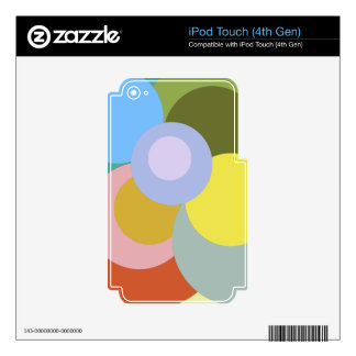 Retro 70s Groovy Dots Pattern iPod Touch 4G Decal