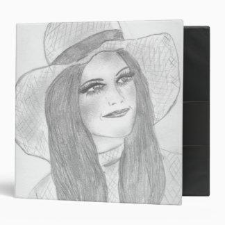 Retro 70s Hat Girl Binder