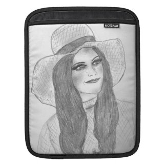 Retro 70s Hat Girl Sleeve For iPads