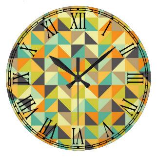 Retro 70s Pattern Wall Clocks