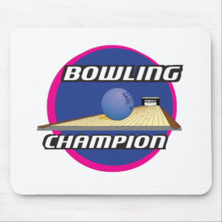 Retro 70's Style Bowling Champion Mouse Pad