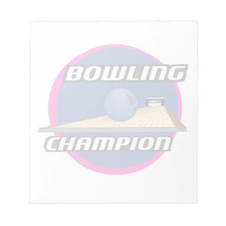 Retro 70's Style Bowling Champion Notepad