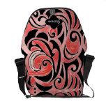 Retro 70s Swirl Chalkboard Modern Tribal Design Courier Bag