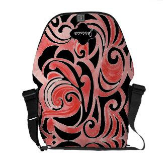 Retro 70s Swirl Chalkboard Modern Tribal Design Messenger Bag