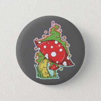 Retro 70's Tattoo Mushroom Pinback Button