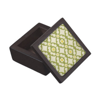 Retro 70s Wallpaper Pattern Jewelry Trinket Box Premium Jewelry Boxes