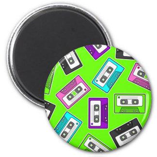 "Retro 80""s Mixtape Print - Green Background Magnet"