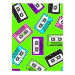 "Retro 80""s Mixtape Print - Green Background Post Card"