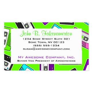Retro 80 s Mixtape Print - Lime Green Business Card Template