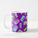 "Retro 80""s Mixtape Print - Purple Classic White Coffee Mug"