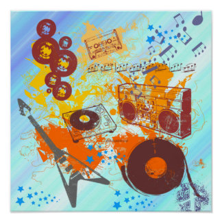 Retro 80 s Music Poster