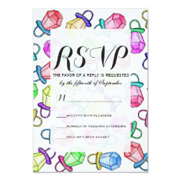 Retro 80's 90's Neon Colorful Ring Candy Pop Card