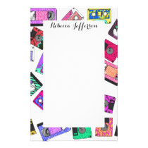 Retro 80's 90's Neon Patterned Cassette Tapes Stationery