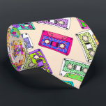"""Retro 80&#39;s 90&#39;s Neon Patterned Cassette Tapes Tie<br><div class=""""desc"""">This cool and retro neon bright colorful 80&#39;s and 90&#39;s throwback patterns on cassette tapes is perfect for the trendy and stylish individual. Its fun and playful print is great for many gifts and occasions. Enjoy this funny and fashionable design for your next purchase; for yourself, your friends, or your...</div>"""