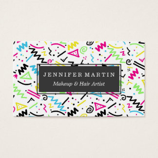 spring floral corners on white business card this elegant design
