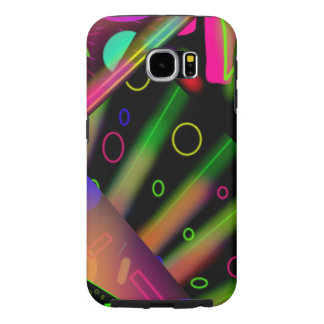 retro 80's abstract neon art samsung galaxy s6 case