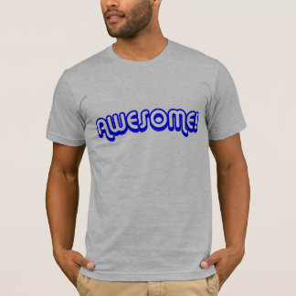 Retro 80s Awesome! Blue T-Shirt