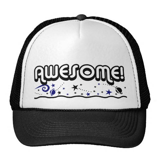 Retro 80s Awesome! Far Out Spacey Trucker Hat