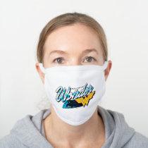 "Retro 80's ""Believe In Wonder"" Graphic White Cotton Face Mask"