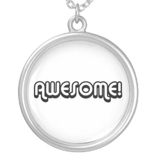 Retro 80s Black and White Awesome Necklace