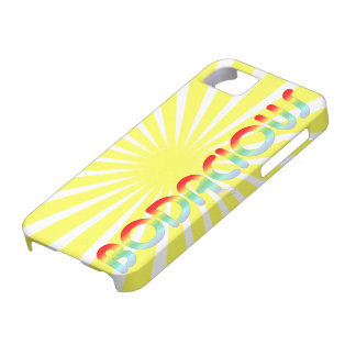 Retro 80s Bright | Bodacious Rainbow Sunburst iPhone SE/5/5s Case
