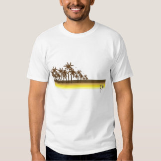 Retro 80s Brown/Gold Palms Tee Shirt