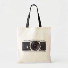 Retro 80s Camera Canvas Grocery Bag at Zazzle