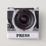 Retro 80s Camera Effect Media And Press Badge Pinback Button at Zazzle