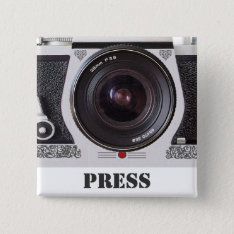 Retro 80s Camera Effect Media And Press Badge Pinback Button at Zazzle