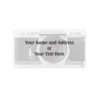 Retro 80s Camera Effect Name and Address Label at Zazzle
