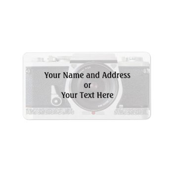Retro 80s Camera Effect Name And Address Label by DigitalDreambuilder at Zazzle
