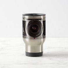 Retro 80s Camera Effect Travel Mug at Zazzle