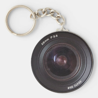 Retro 80s Camera Lens On A Keyring Keychain