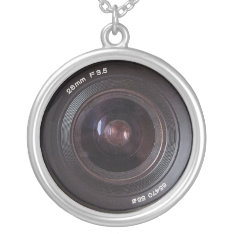 Retro 80s Camera Lens Sterling Silver Jewelry at Zazzle