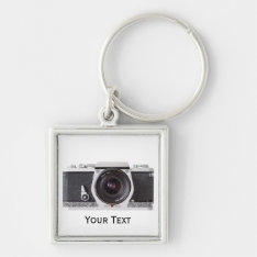 Retro 80s Camera On Laptop Luggage Keychain at Zazzle