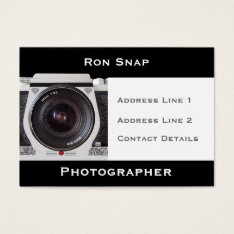 Retro 80s Camera Photographers Business Card at Zazzle